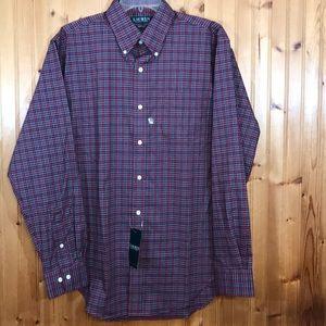 NWT Ralph Lauren Red & Green Plaid Button Shirt